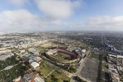 Colosseo di Los Angeles di vista aerea Fotografia Stock Libera da Diritti