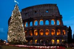 Colosseo di natale fotografie stock libere da diritti
