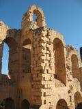 Colosseo di Tunisi fotografia stock libera da diritti