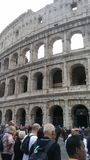 Rome, Italy, Colosseo with tourists royalty free stock photography
