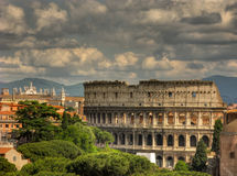 Colosseo nublado imagen de archivo libre de regalías