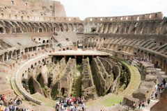 Colosseo a Roma. Coliseum inside view on a sunny day royalty free stock photography