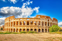 Colosseo Roma Italy. The Colosseo, Colosseum, Flavian Amphitheatre, is the largest amphitheater in the world and one of the symbols of Italy. Symbol of Rome Royalty Free Stock Images