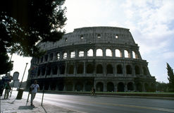 Colosseo 01. Roma - Colosseo, Rome Coliseum, Amphitheater Stock Photo