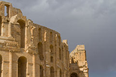 Colosseo romano al EL Djem Fotografia Stock