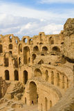 Colosseo romano al EL Djem Fotografie Stock