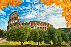 Colosseo Rome, Italien Arkivfoto