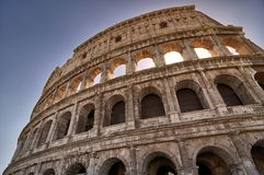 Colosseo in Rome at sunset stock image