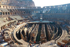 Colosseo. Was the ancient Roman arena animal performance Royalty Free Stock Photo