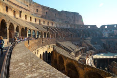 Colosseo. Was the ancient Roman arena animal performance Royalty Free Stock Photos