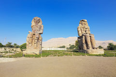 Colosses de Memnon Photos stock