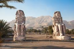 Colosses de Memnon Image libre de droits