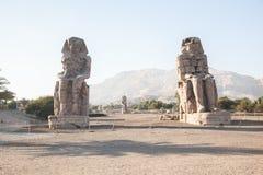 Colosses de Memnon Photos libres de droits