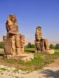 Colosses de Memnon en Egypte Images stock