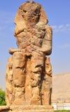 Colosses de Memnon en Egypte Photos stock