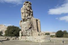 Colosses de Memnon et d'Amenhotep III Photos stock
