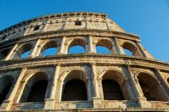 COLOSSEUM关闭罗马意大利COLOSSEO 免版税图库摄影