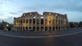 Colosseum在晚上 股票录像