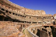 colosseum宽内部的罗马 免版税库存照片