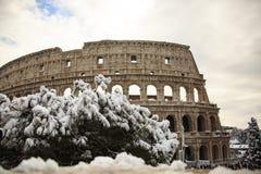 Colosseum και imperiali Fori, χιόνι στη Ρώμη Στοκ φωτογραφίες με δικαίωμα ελεύθερης χρήσης