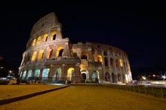 Colosseum που φωτίζεται στη Ρώμη Στοκ φωτογραφία με δικαίωμα ελεύθερης χρήσης