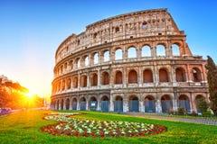 Colosseum στην ανατολή Στοκ εικόνα με δικαίωμα ελεύθερης χρήσης