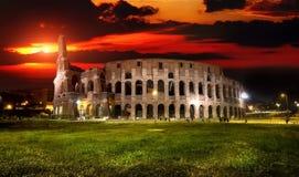 Colosseum στο ηλιοβασίλεμα Στοκ Εικόνες