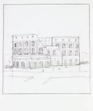 Colosseum της Ρώμης απεικόνιση αποθεμάτων