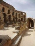 Colosseum в городе El Djem Стоковое Фото