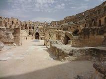 Colosseum в городе El Djem Стоковые Изображения