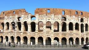 Colosseum - главные туристические достопримечательности Рима, Италии Старые руины Рима римской цивилизации видеоматериал