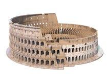 Colosseum, Колизей изолированный на белизне Символ Рима и Италии, Стоковые Фото