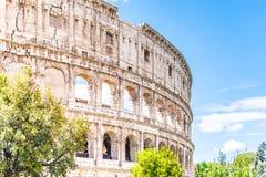 Colosseum, Колизей или амфитеатр Flavian, в Риме, Италия стоковое изображение rf