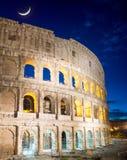 Colosseum на ноче Стоковые Изображения RF