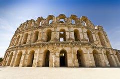 colosseum римский Тунис стоковые изображения