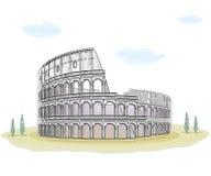 Colosseum -略图 皇族释放例证