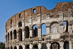 Colosseum. Roman Coliseum, originally the Flavian Amphitheatre is an elliptical amphitheatre in the center of the city of Rome, Italy Stock Photography