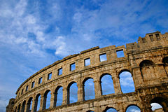 Colosseum. The beautifully preserved ancient Roman arena in Pula, Croatia Stock Photo