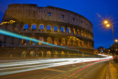 Colosseum. Historic Colosseum of Rome during the twilight Stock Image