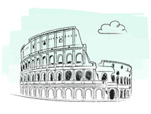 Colosseum vector. Illustration of the Colosseum isolated + vector eps file Stock Photo