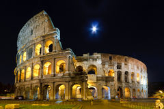 Colosseum. Rome's ancient Colosseum at under the moonlight in 2011 Stock Image