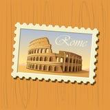 γραμματόσημο της Ρώμης colosseum Στοκ εικόνες με δικαίωμα ελεύθερης χρήσης