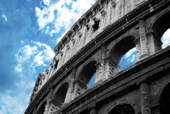 Colosseum. In Black and White with Blue sky Stock Photography