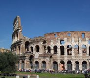 The colosseum. Partial view of the colosseum Royalty Free Stock Photography