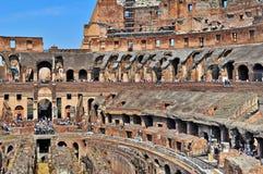 在罗马里面的colosseum 免版税库存照片