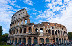 The Colosseum. Ancient Rome most famous landmark Stock Photo