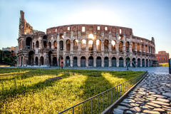 Colosseum against sunrise in  Rome, Italy Royalty Free Stock Photos