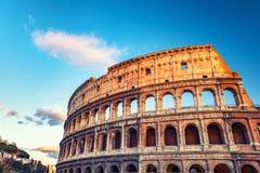 Colosseum al tramonto Immagini Stock Libere da Diritti