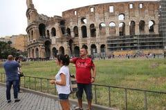 Colosseum amfiteater, Rome, Italien Royaltyfri Fotografi