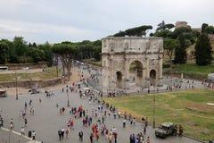 Colosseum amfiteater, Rome, Italien Arkivfoton